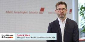 Frederick Moch, Abteilungsleiter Struktur-, Industrie- und Dienstleistungspolitik, DGB-Bundesvorstand
