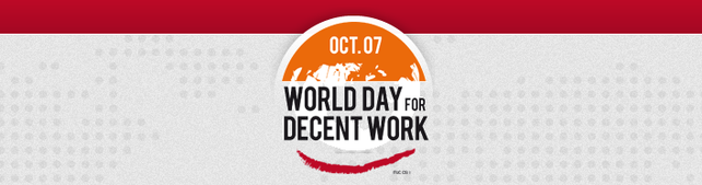 Logo World Day for Decent Work