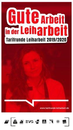 Cover Flyer Umfrage zur Tarifrunde Leiharbeit 2019/2020: Gute Arbeit in der Leiharbeit - Deine Stimme zählt!
