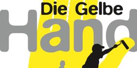 """Grafik Schriftzug """"Die Gelbe Hand"""""""