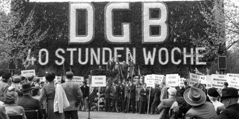 DGB 1.Mai 1955 40-Stunden-Woche