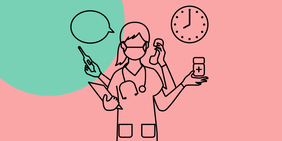 Krankenpflegerin im Stress