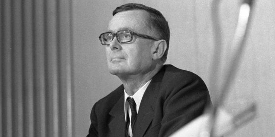 Karl Schiller, SPD-Finanz- und Wirtschaftsminister, Initiator der Konzertierten Aktion