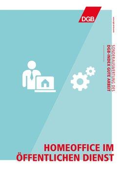 Cover Sonderauswertung DGB-Index Gute Arbeit: Homeoffice im Öffentlichen Dienst