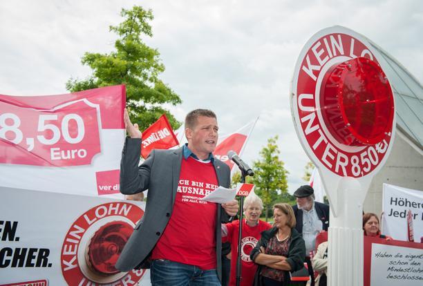 Florian Haggenmiller Mindestlohn Kundgebung