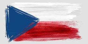 gezeichnete Flagge von Tschechien