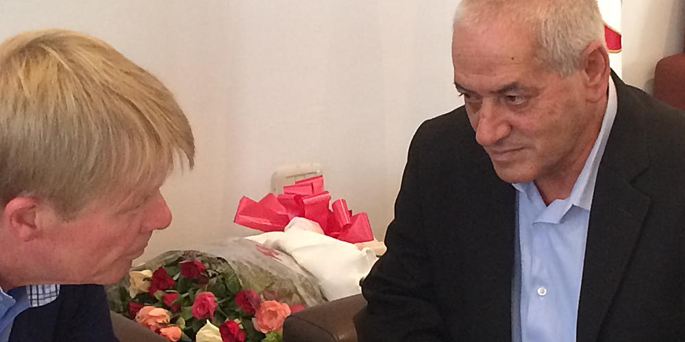 DGB-Vorsitzender Reiner Hoffmann und UGTT-Generalsekretär Houcine Abassi