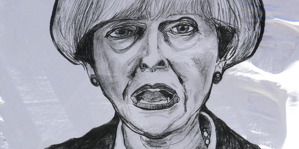 Karikatur von Theresa May