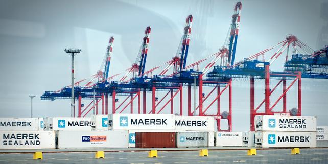 Container in Hafen