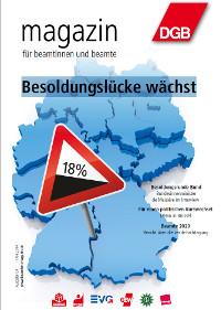 Beamtenmagazin 04/2014 Titel:  Besoldungslücke wächst