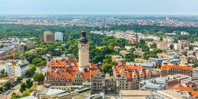 Luftaufnahme Leipzig