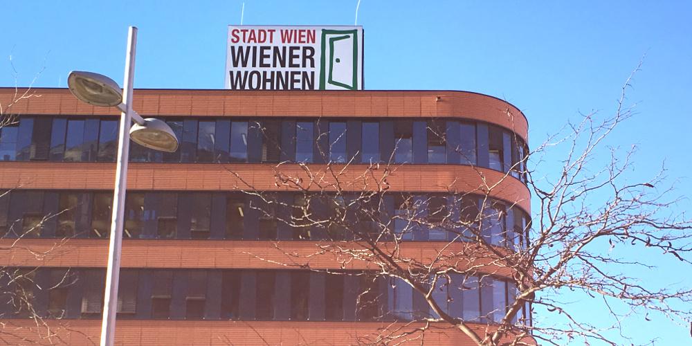 Fassade Gebäude Wiener Wohnen