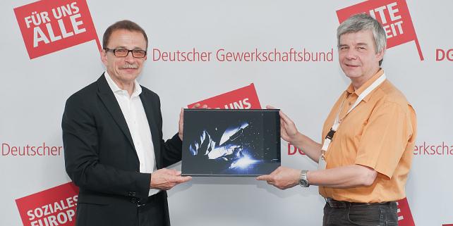 Preisverleihung DGB Fotowettbewerb mit Claus Matecki und