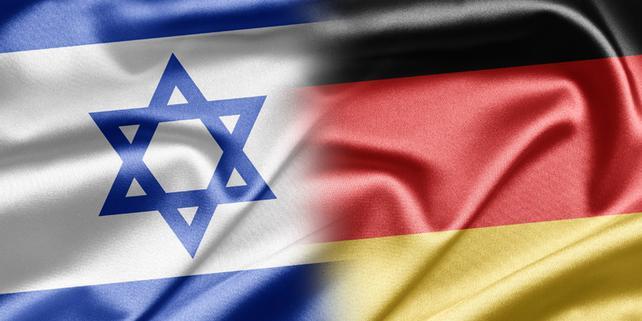 Flaggen Israel Deutschland, deutsch-israelische Freundschaft