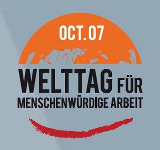 Logo Welttag für menschenwürdige Arbeit