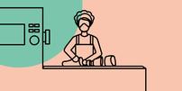 Fleischindustrie: Frau am Fließband