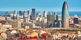 Panorama Barcelona (Spanien)