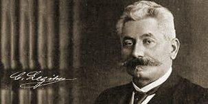 """Porträt von Carl Legien, ab 1890 Vorsitzender der """"Generalcommission der Gewerkschaften Deutschlands"""""""