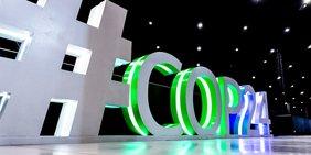 COP24 Bühneaufbau Riesenbuchstaben
