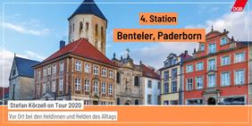 Tourankündigung Station 4 Benteler Paderborn Häuser in der Innenstadt