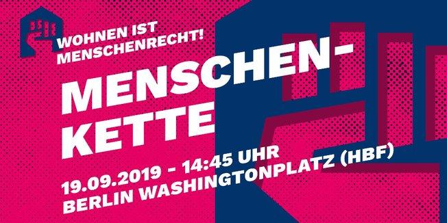 """Aufruf zur Menschenkette """"Wohnen ist ein Menschenrecht"""" am 19.09.2019 in Berlin"""