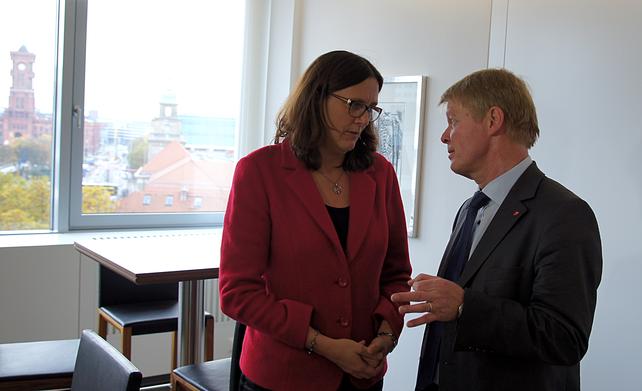 Cecilia Malmström, Reiner Hoffmann