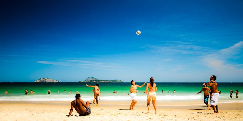 A sunny saturday on Ipanema Beach - cropped from original