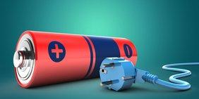 Batterie und Stecker