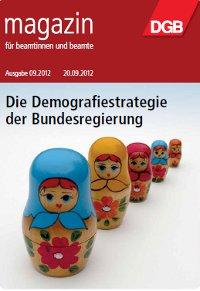 Titel Beamtenmagazin 9/2012