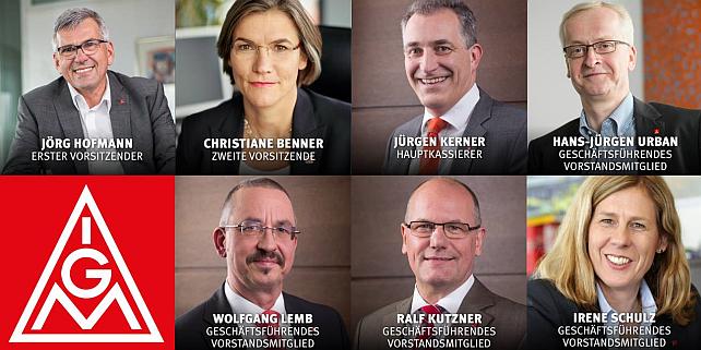 IG Metall Vorstandsmitglieder 2015