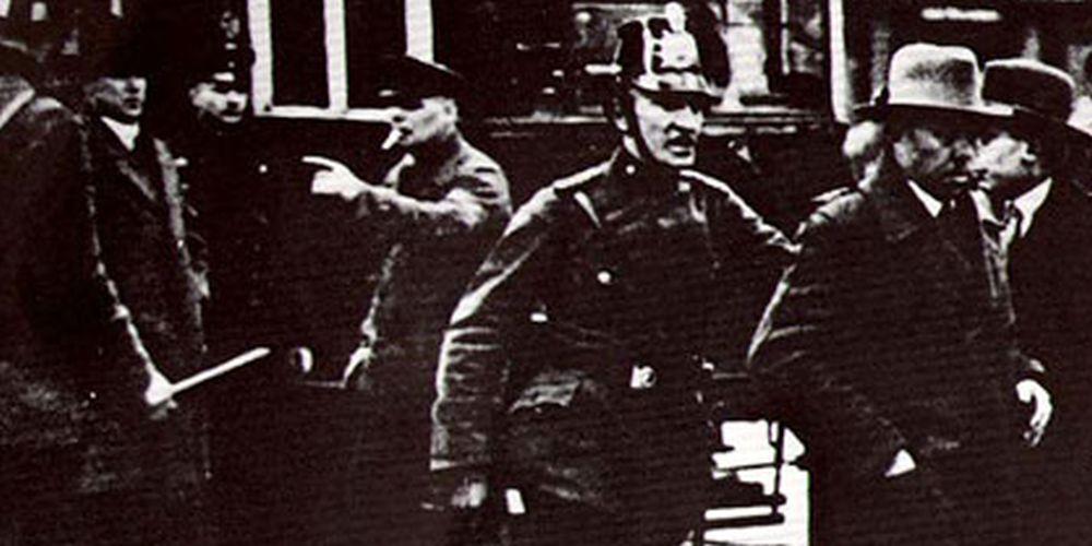 Historisches Bild: Zerschlagung der Gewerkchaften 1933
