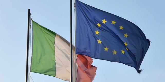Fahnen Italien Europa EU