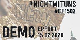 Logo zum Demoaufruf am 15. Februar 2020 in Erfurt