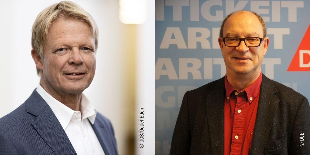 Reiner Hoffmann, DGB-Vorsitzender und Andreas Botsch, Internationaler Sekretär des DGB