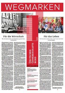 """Titelblatt einer Zeitung (""""Wegmarken"""")"""