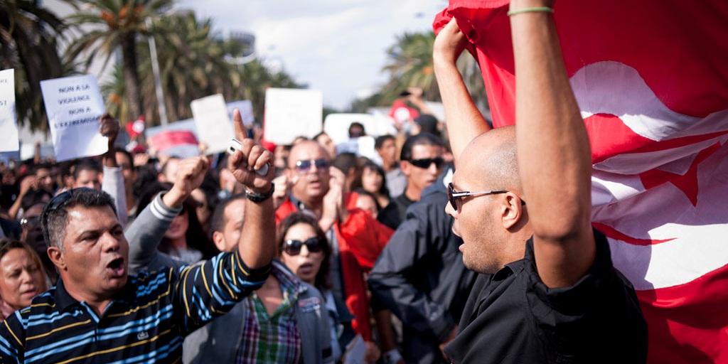 Demos in Tunesien
