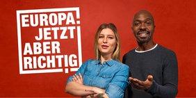 Dachmotiv Europawahlkampagne 2019. Europa. Jetzt aber richtig!