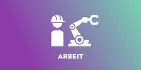 Echt Gerecht Roboterarm und Arbeiter