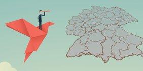 Ausblick auf die Deutschlandkarte: Finden Sie die Ansprechpartner im DGB Handwerk und in den Handwerkskammern