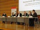 Klaus Böhme, ver.di; Dr. Barbara Dorn, BDA; Wolf Jürgen Röder, Otto Brenner Stiftung; Albert Eckert (Moderation). Christiane Konegen-Grenier, IdW;   Dr.Andreas Keller, GEW; Prof. Dr. Gesine Schwan, Humboldt-Viadrina School of Governance.