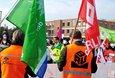 Auftakt Tarifrunde öffentlicher Dienst Länder 2021 Demonstrationszug vor Landesvertretung