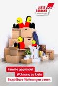 """Plakat-Motiv: """"Familie gegründet, Wohnung zu klein. Bezahlbare Wohnungen bauen"""""""