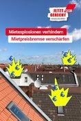 "Plakat-Motiv: ""Mietexplosion verhindern, Mietpreisbremse verschärfen"""
