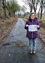 Angela Braack-Kuske findet, dass unbedingt in den Zustand der Radwege im nördlichen Nordfriesland investiert werden muss.