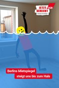 "Plakat-Motiv: ""Berlins Mietspiegel steigt uns bis zum Hals"""