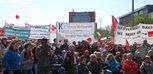 8.000 Menschen versammeln sich auf dem Klagesmarkt in Hannover