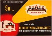 Plakat 1963 Kampagne BetrVG