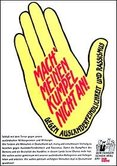 Plakat Gelbe Hand Kumpelverein