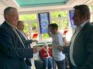 Aktion in Gelsenkirchen im DGB-Haus der Jugend mit Politikern der Parteien
