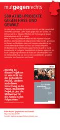 580 Azubi-Projekte gegen Hass und Gewalt